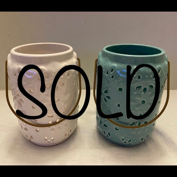 Other - SOLD-Ceramic Candle Lanterns